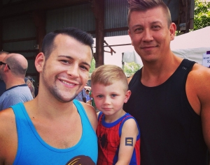 Jake, Shaun and little Matthew, in Alabama, where equal marriage is now legal.  Happy Family Day! from FreedomtoMarry.org